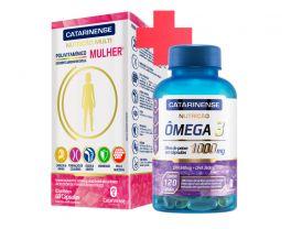 Combo Saúde da Mulher - Polivitamínico Mulher + Ômega 3