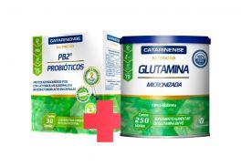 Combo Saúde do Intestino - PB2 Probióticos + Glutamina