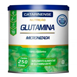 Glutamina Catarinense nutrição 250 gramas 100% L-Glutamina