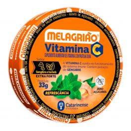 Melagrião Pastilha Vitamina C Extra Forte lata
