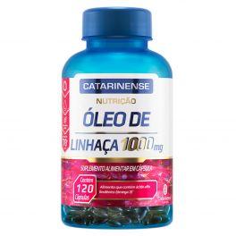 Óleo de Linhaça 1000mg 120 Cápsulas Catarinense Nutrição