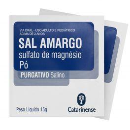 Sal amargo - sulfato de magesio 15g - Purgativo salino
